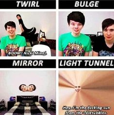 Dan & Phil ❤️I loved the Photo Booth video. I rematched it so many times to help me laugh.