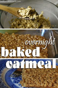 Overnight Baked Oatmeal. This is deliciousness on a plate. A real food recipe that requires very little hands on time!