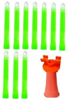 'Ultimate Arms Gear Premium Military Glow Light Stick Combination Includes 6'' Inch 10 Pack Green Lightsticks and Orange 7'' Base Sideways and Vertical Lightstick Stand Holder Traffic Cone Adapter for Emergency ** Details can be found by clicking on the image.