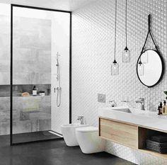 Minimalistyczna łazienka Bathroom Renos, Bathroom Storage, Master Bathroom, Washroom, Bathroom Inspo, Bathroom Inspiration, Room Interior, Interior Design Living Room, Black White Bathrooms