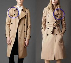 What is the difference between a man's trench coat and a women's? NOT MUCH