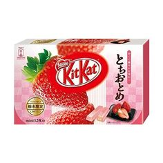 Japanese Kit Kat Tochiotome Strawberry Chocolate Box 5.2oz (12 Mini... (235 DKK) ❤ liked on Polyvore featuring food