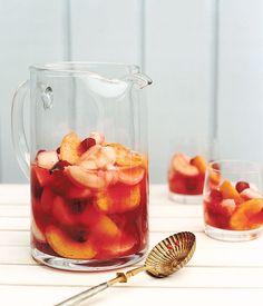 picnic fruit salad // vanilla bean, sugar, peaches, nectarines, raspberries, lime or lemon juice, vodka