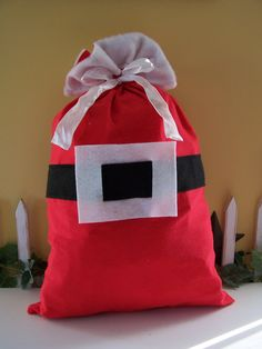 Santa Sack for Christmas gifts!  Adorable and reusable.  What a great idea