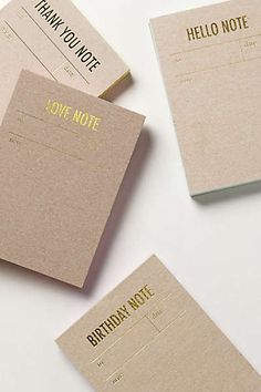 Anthropologie - Letterpress Notepad