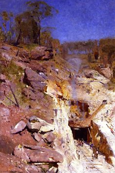 Arthur Streeton ~ Fires On... http://www.simonbrushfield.com/wp-content/uploads/Fires-On-painting-by-Arthur-Streeton.jpg