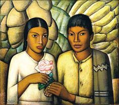 "Alfredo Ramos Martínez: ""Indian Wedding,"" 1931 (oil on masonite)."