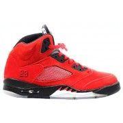 Air Jordan 5 (V) Raging Bull Red Suede Varsity Red Black   $101.99         http://www.fineretro.com/