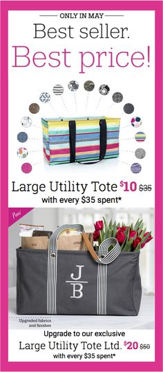 Thirty-One Gifts – Best seller...best price! #ThirtyOneGifts #ThirtyOne #Monogramming #Organization #May2018Special #LargeUtilityTote #LargeUtilityToteLTD #DoubleChillThermalSet