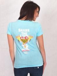 Women's Just In Queso Light Blue Slim Fit Tee— Available at TIjuanaFlats.com for $12.00.