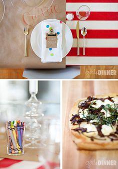 cute creative dinner settings!