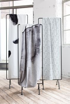 I first learnt of the Dutch label Crisp Sheets through some of their incredible bedroom styling which I featured in this post. Founded in 2014 by Amsterdam-based Lara Jans, Crisp Sheets offers a beaut Interior Modern, Interior Architecture, Interior Design, Scarf Display, Fabric Display, Design Textile, Bed Back, Chaise Vintage, Bedroom Styles