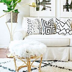 41 Why Everybody Is Wrong About Black White Gold Living Room Decor Couch And Why You Should View This 29 Home Design, Interior Design, Modern Interior, Diy Design, Design Trends, Diy Pillows, Sofa Pillows, Ikea Pillow, Pillow Ideas