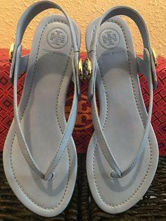 fb28238e2 NIB Tory Burch Minnie Travel Sandals( Size 6 M US) BLUE  fashion