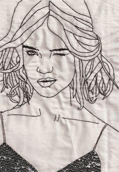 Hand-stitched Illustrations by Rachel Sulek, via Behance