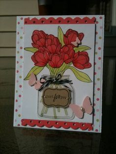 Friendship Jar- Tulips by Heather Beck - Cards and Paper Crafts at Splitcoaststampers PTI stamp