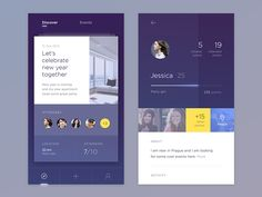 design Stunning mobile App UI for Android or iOS by Mobile Ui Design, App Ui Design, Flat Design, Design Design, App Design Inspiration, Interface Design, User Interface, Design Thinking, Application Ui Design