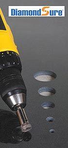 DiamondSure diamond drill bit for drilling porcelain tile