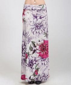 Another great find on #zulily! Purple Floral Maxi Skirt by BOLD & BEAUTIFUL #zulilyfinds