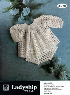 Babies Angel Top Pants Vintage Crochet Pattern Pdf by ReallySpecialVintage for $2.50