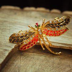 Pond Dragonfly Brooch 5367 by Craft365com on Etsy