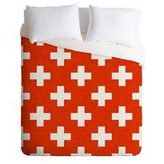 Holli Zollinger Vermillion Plus Duvet Cover | DENY Designs Home Accessories