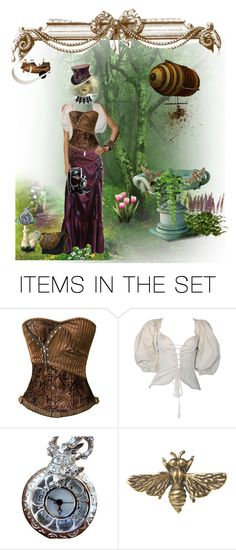 """""""A Steampunk Spring"""" by bigbayred ❤ liked on Polyvore featuring art"""