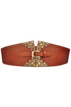 Textured Animal Print Waist Belt