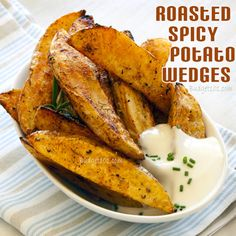 Roasted Spicy Potato Wedges