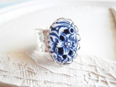 Nautical Jewelry  Nautical Blue and White Silver by linkeldesigns, $18.00