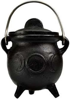 """A small pot belly cauldron that's great to keep a small amount of herb mix or incense powder near you altar or as a heat safe dish for burning charcoal or cones in. 3"""" x c 12"""""""
