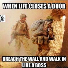 Tagged with Funny; Shared by Just some military humor. Military Jokes, Army Humor, Army Memes, Marine Humor, E Mc2, Warrior Quotes, Badass Quotes, Like A Boss, Marine Corps
