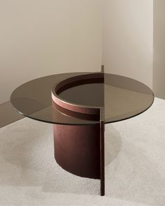 Robert Sukrachand's Torus coffee table in microsuede