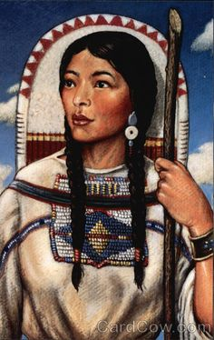 """Sacagawea, 'Bird Woman'"" • ""c 1787-1812. Born Shoshone, she was captured by rival Native Americans and later sold to a French trapper. Both joined the Lewis & Clark Expedition, which she served as guide"""