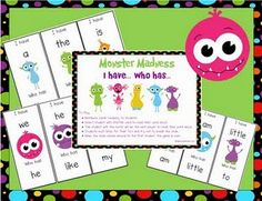 I have_ who has _ free sight word game. Great for the first weeks of school!