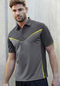 Shop your preferred polo t-shirts at the best price from our online shop Workwear Wholesaler. For more info contact us. Sport Shirt Design, Tee Shirt Designs, Sport T Shirt, Hi Vis Workwear, Safety Workwear, Polo T Shirts, Cool Shirts, Track Pants Mens, Outdoor Wear