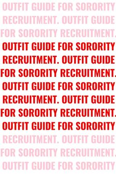 What to wear? What to wear? What to wear?Deciding what to wear to sorority recruitment can seem very overwhelming. You feel like you need to look your absolute best. You might even feel pressured to find the perfect outfits. I am going to breakdown the basic guideline of what to wear for sorority recruitment. Click the image to read more. Sorority Rush Week, Sorority Rush Outfits, Panhellenic Recruitment, Sorority Recruitment Outfits, College Sorority, Sorority Gifts, Sorority Canvas, Sorority Paddles, Sorority Big Little