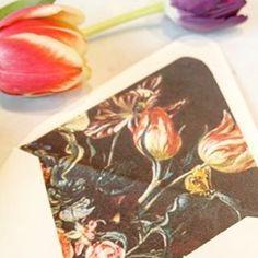 Botanical Envelope Liner honey-paper.com #floral #santabarbarawedding #santaynezwedding