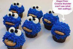 Cookie Monster Cupcakes tutorial