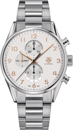 TAG Heuer Watch Carrera #bezel-fixed #bracelet-strap-steel #brand-tag-heuer #case-material-steel #case-width-43mm #chronograph-yes #date-yes #delivery-timescale-4-6-days #description-done #dial-colour-silver #gender-mens #limited-code #luxury #movement-automatic #official-stockist-for-tag-heuer-watches #packaging-tag-heuer-watch-packaging #style-dress #subcat-carrera #supplier-model-no-car2012-ba0799 #warranty-tag-heuer-official-2-year-guarantee #water-resistant-100m