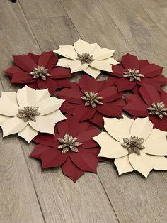 Conjunto de 8 flores de Pascua de papel