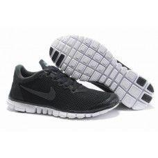 Nike Free 3.0 V2 Oami Mann Sko Svart/kull Grå{8uWjnR}