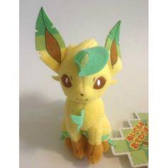 Pokemon Center 2013 Leafeon Mini Sitting Plush Toy