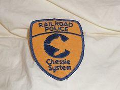 Old Original CSX C&O B&O Chessie Railroad Police Patch Tough Patch & Display