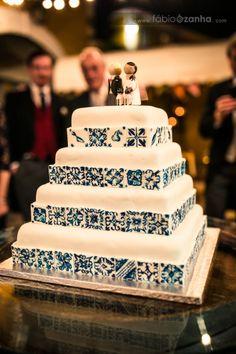 portuguese tiles# wedding cake