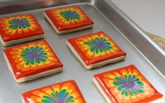 raimbow tie dye cookies.... something different but goes perfect with the theme