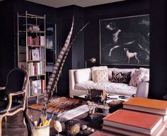 "Designed by: Billy Baldwin Location: East 61st Street Year: Early 1970s ""You could tell that Billy had pared down his life, and everything that was in that room had a special meaning to him — and those rich dark-brown walls were so chic. I look at it today, and you could transport the room to 2015, and it would still look fantastic."""