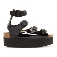 Sacai Luck  Black Tatami Platform Sandals Madeiras ed84206c3dd