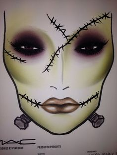 Halloween facechart done by me