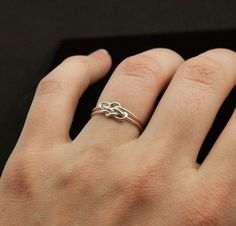 Double Infinity ring. Sterling Silver infinity ring. Best friends jewelry sister ring, promise ring. Double knot ring. $36.00, via Etsy.